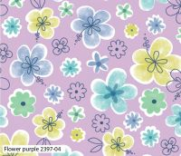 PURPLE FLORAL 100% COTTON BY THE COTTON CRAFT CO'.