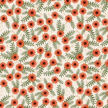 FOXY FALL FLORAL 100% COTTON BY THE COTTON CRAFT CO'.