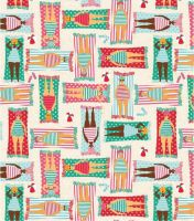 SUN BATHING LADIES 100% COTTON BY THE COTTON CRAFT CO'.
