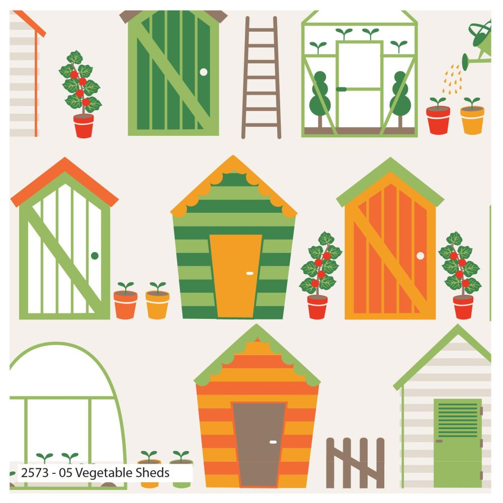 GARDEN SHED 100% COTTON BY THE COTTON CRAFT CO'.