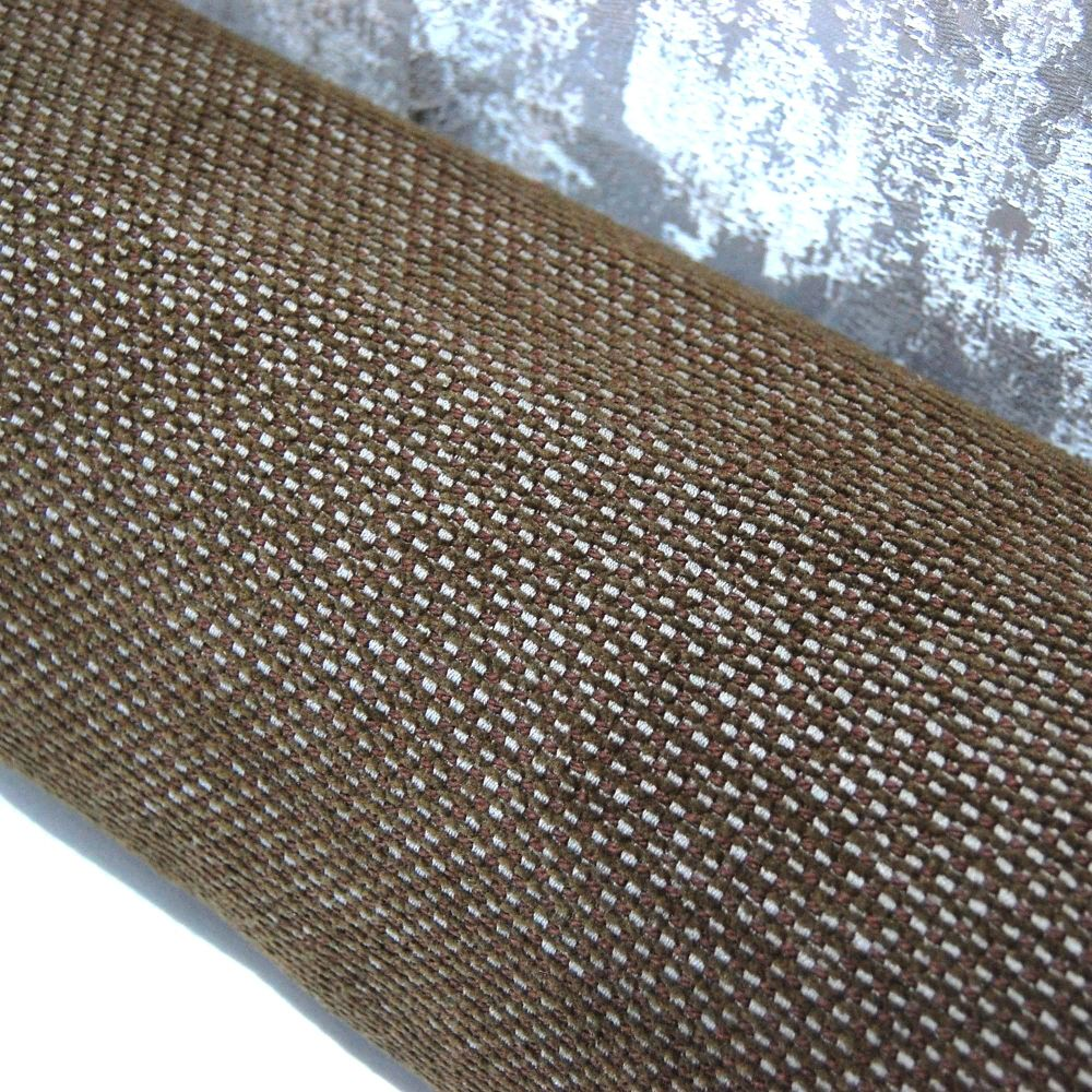 UPHOLSTERY FABRIC BASKET WEAVE IN CHOC BROWN, SOLD BY THE METRE.