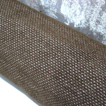 UPHOLSTERY FABRIC BASKET WEAVE IN CHOC BROWN, SOLD BY THE PIECE.