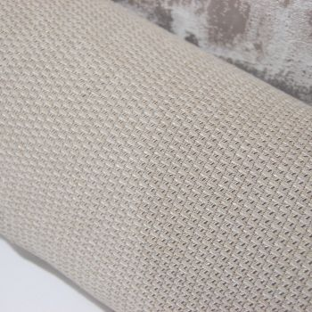 UPHOLSTERY FABRIC BUBBLE WEAVE IN SILVER TAUPE, SOLD AS A 4 METRE PIECE.