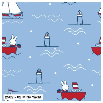 MIFFY YACHT ON 100% COTTON BY THE COTTON CRAFT CO'.