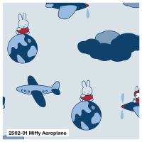 MIFFY AEROPLANE ON 100% COTTON BY THE COTTON CRAFT CO'.