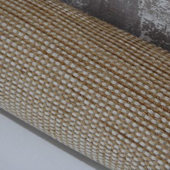 UPHOLSTERY FABRIC CHENILLE WEAVE BUTTER CREAM, SOLD AS A 2 METRE PIECE.