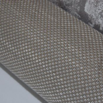 UPHOLSTERY FABRIC SILVER/TAUPE CHECQUER WEAVE, SOLD BY THE PIECE.