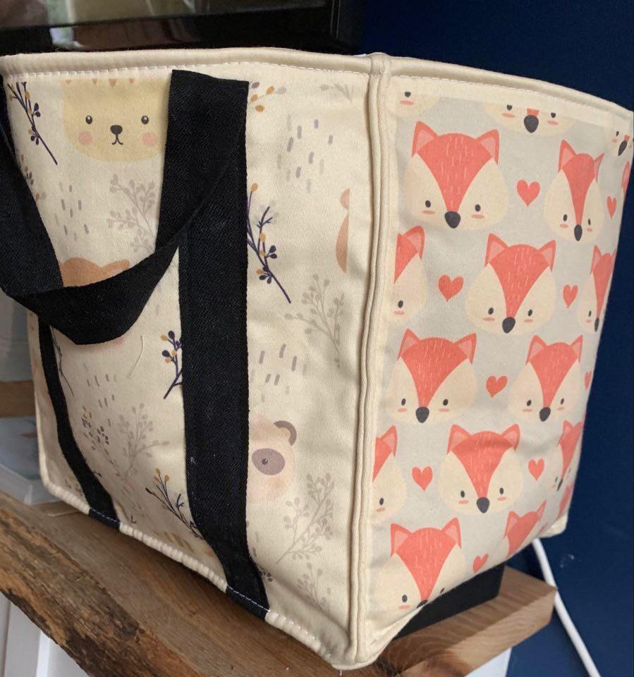 cotton square bag