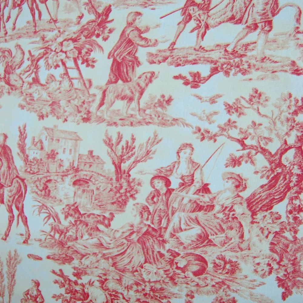 JOUY DE TOILE TRAD FARM LIFE SCENES FURNISHING CANVAS FABRIC WITH SOLD BY T