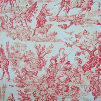 JOUY DE TOILE TRAD FARM LIFE SCENES FURNISHING CANVAS FABRIC SOLD BY THE METRE.