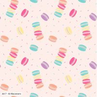 TEA PARTY MACAROONS 100% COTTON BY THE COTTON CRAFT CO'.