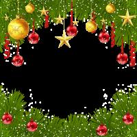 8 INCH FELT SQUARE,  CHRISTMAS FRAME (OPTION A).