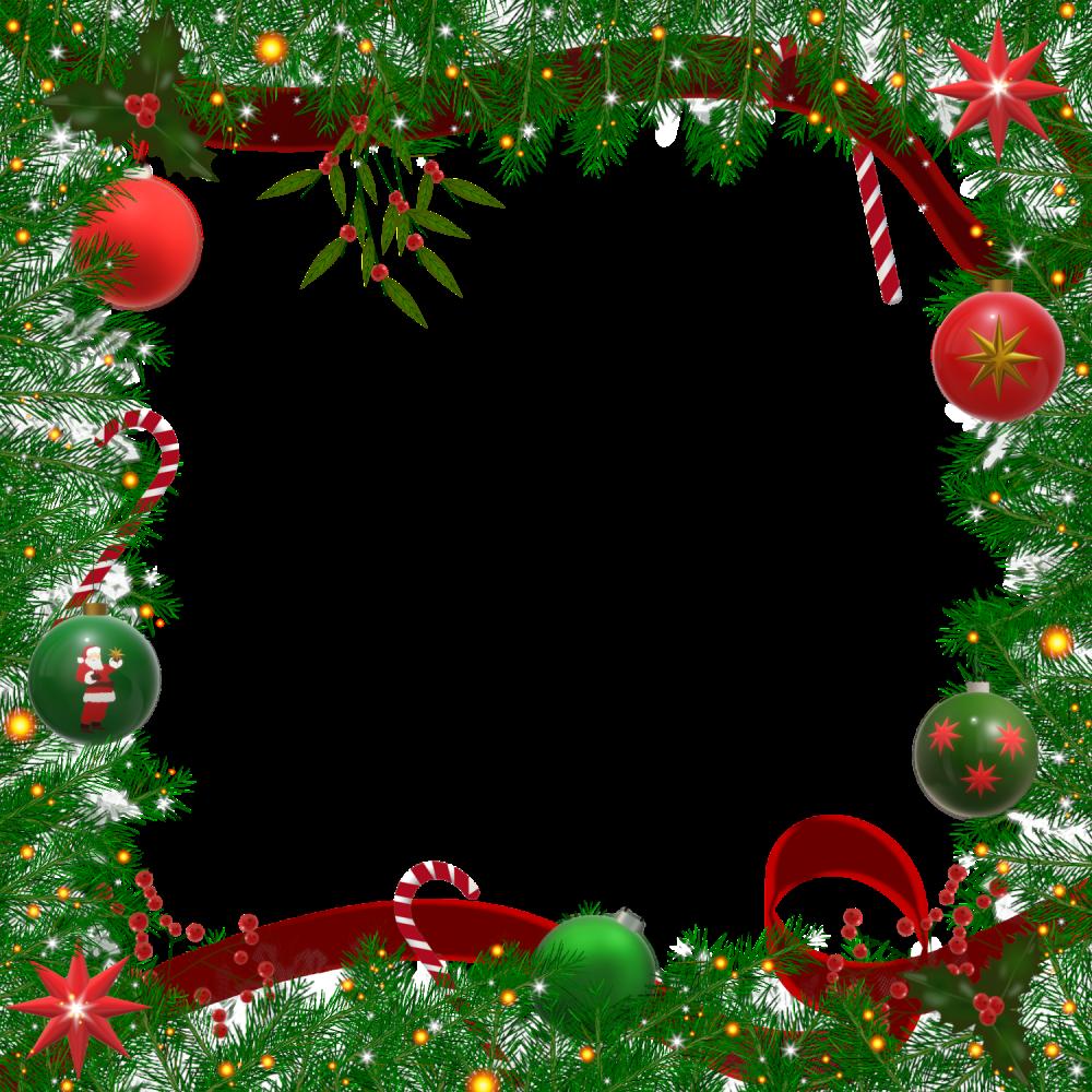 8 INCH COTTON SQUARE,  CHRISTMAS FRAME (OPTION B).