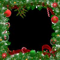8 INCH FELT SQUARE,  CHRISTMAS FRAME (OPTION B). 40