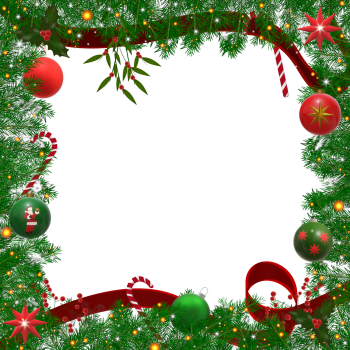8 INCH COTTON SQUARE,  CHRISTMAS FRAME (OPTION B).