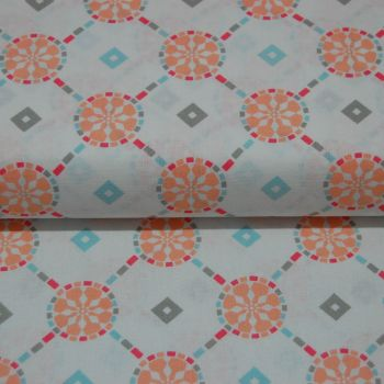 CLASSIC TILES PASTEL (STYLE 1) 100% COTTON BY THE COTTON CRAFT CO'.