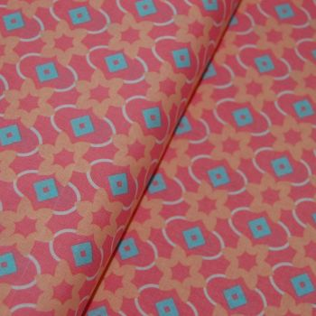 CLASSIC TILES PASTEL (STYLE 2) 100% COTTON BY THE COTTON CRAFT CO'.