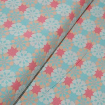 CLASSIC TILES PASTEL (STYLE 3) 100% COTTON BY THE COTTON CRAFT CO'.