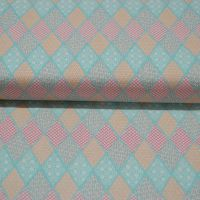 CLASSIC TILES PASTEL (STYLE 4) 100% COTTON BY THE COTTON CRAFT CO'.