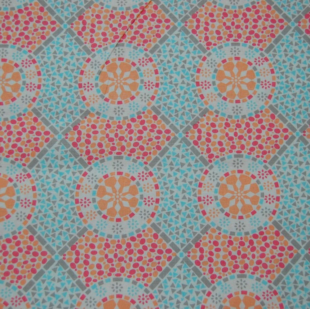 CLASSIC TILES PASTEL (STYLE 5) 100% COTTON BY THE COTTON CRAFT CO'.