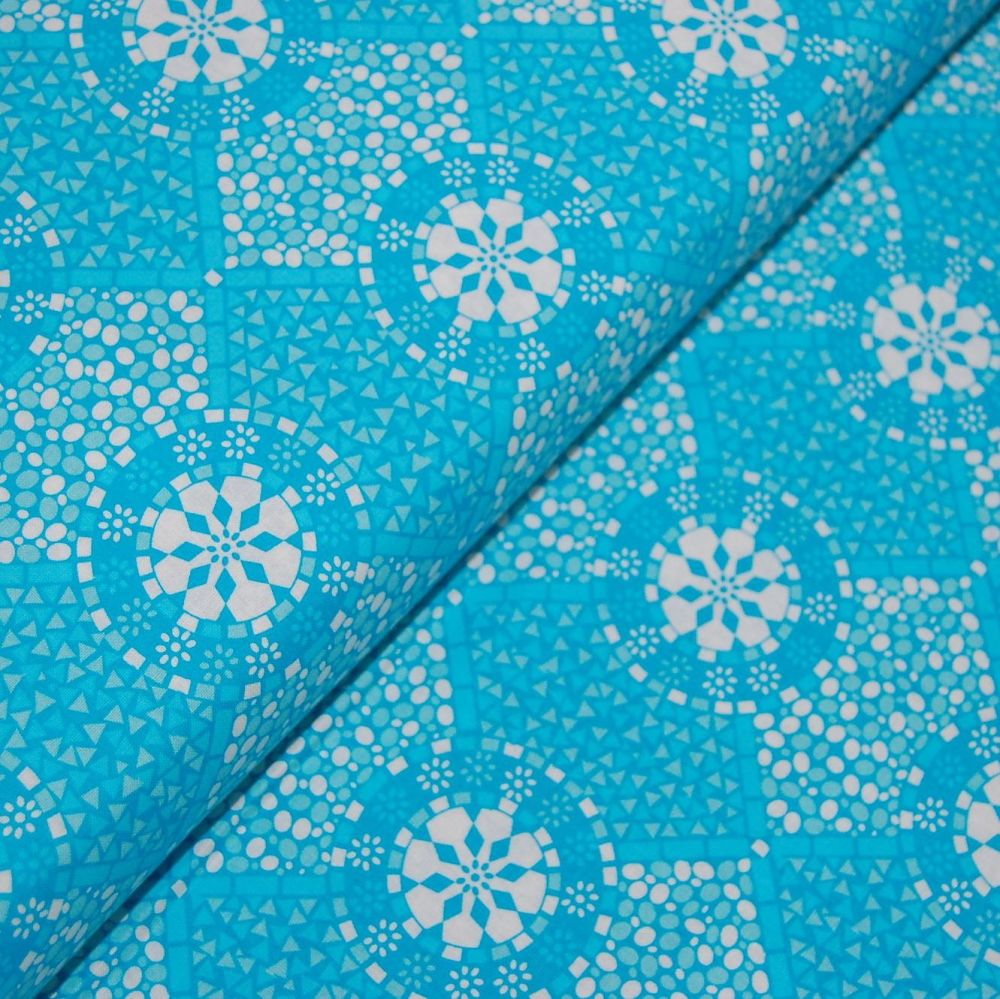 CLASSIC TILES BLUE (STYLE 1) 100% COTTON BY THE COTTON CRAFT CO'.
