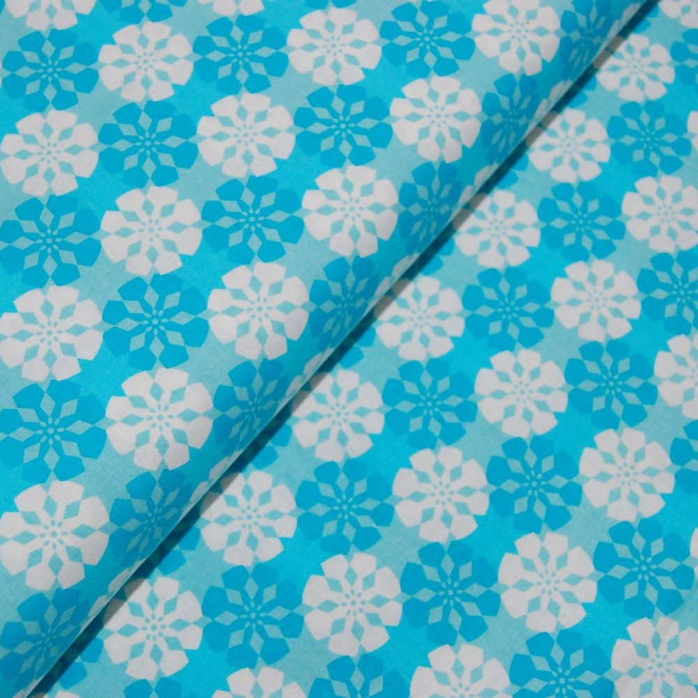 CLASSIC TILES BLUE (STYLE 3) 100% COTTON BY THE COTTON CRAFT CO'.