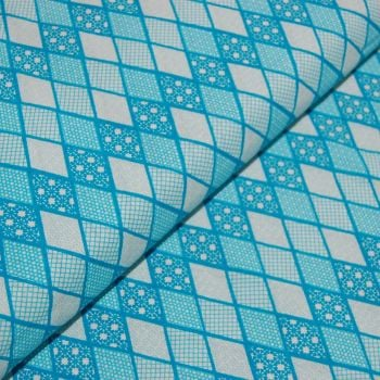 CLASSIC TILES BLUE (STYLE 4) 100% COTTON BY THE COTTON CRAFT CO'.