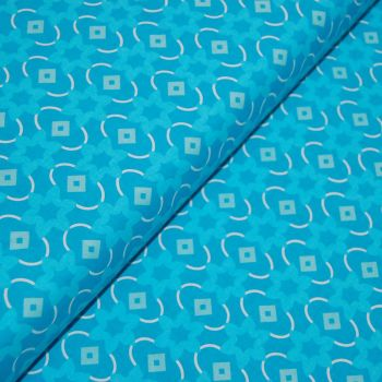 CLASSIC TILES BLUE (STYLE 5) 100% COTTON BY THE COTTON CRAFT CO'.