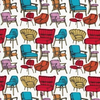 RETRO CHAIRS 100% COTTON BY THE COTTON CRAFT CO'.