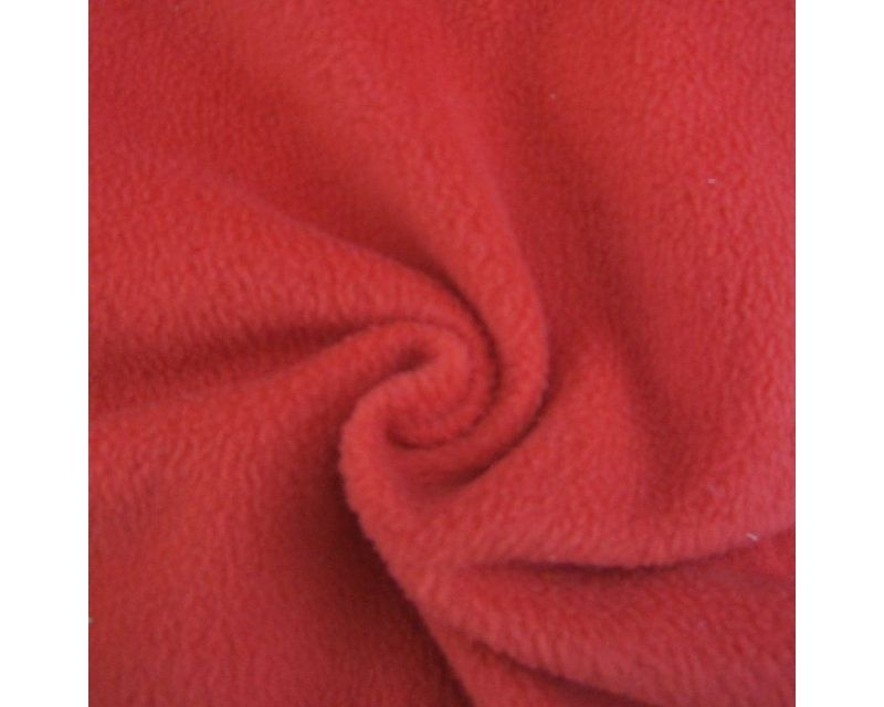 RED POLAR FLEECE, ANTI PILL, 56 INCH WIDE.