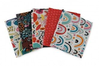 CHIMNEY MEADOWS QUARTER SET, 5 PIECES. 100% COTTON.