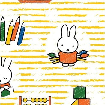 MIFFY DRAWING ON 100% COTTON BY THE COTTON CRAFT CO'.