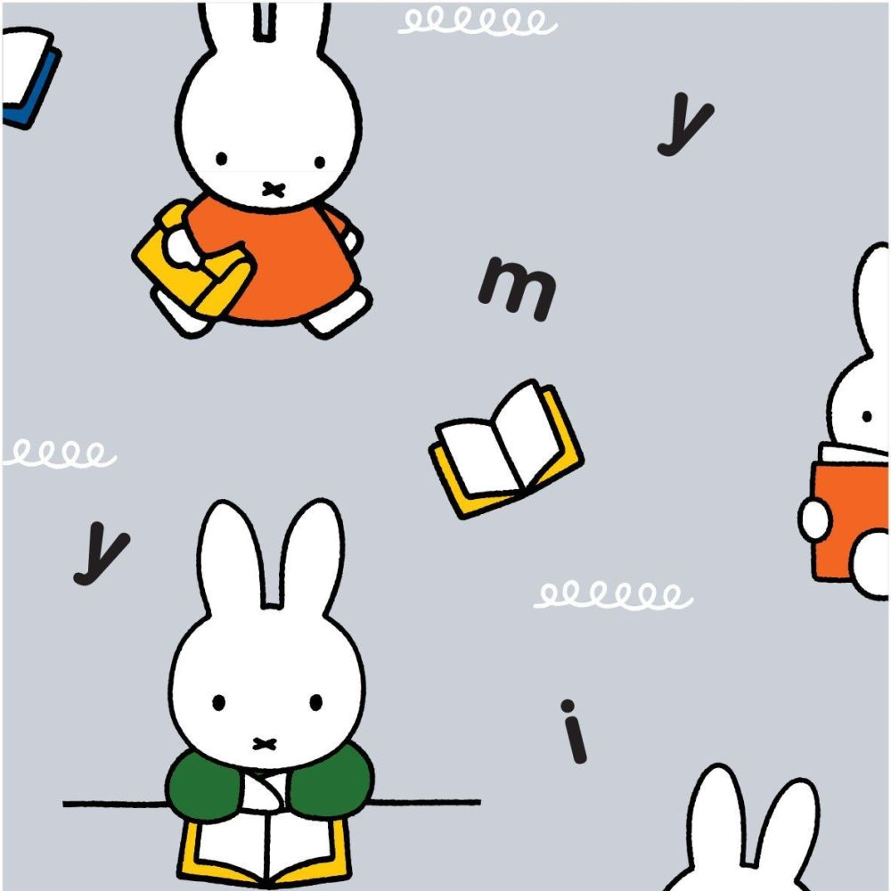 MIFFY LEARNING ON 100% COTTON BY THE COTTON CRAFT CO'.