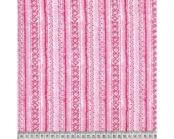 GEOMETRIC STRIPE, 100% COTTON. PINK.