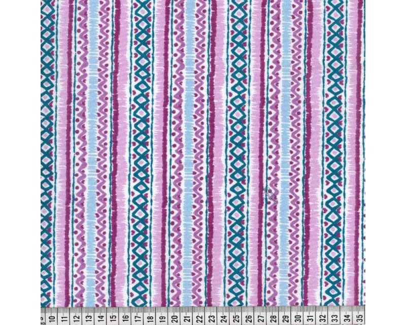 GEOMETRIC STRIPE, 100% COTTON. PURPLE.