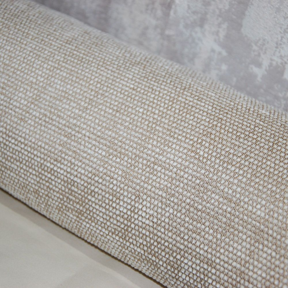 UPHOLSTERY FABRIC CHENILLE WEAVE BUTTER CREAM, SOLD AS A 4 METRE PIECE.