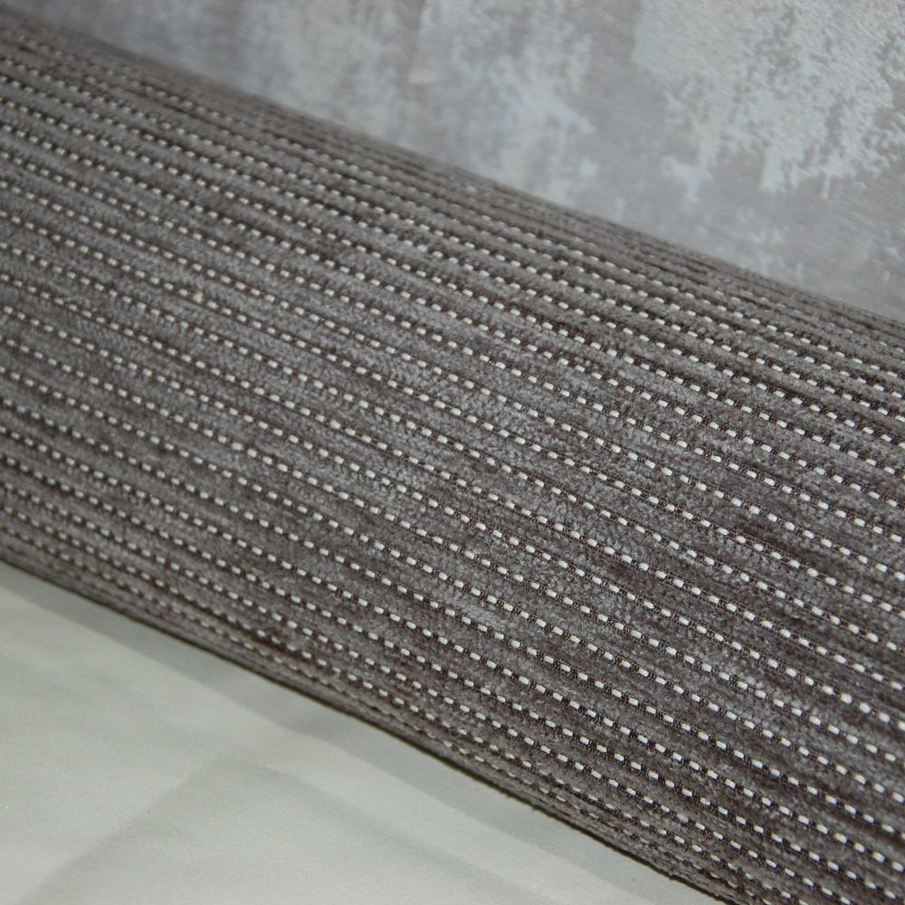 UPHOLSTERY FABRIC PALE CORDED WEAVE, SOLD AS A 4 METRE PIECE.