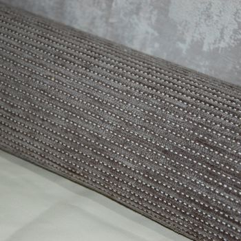 UPHOLSTERY FABRIC DARK CORDED WEAVE, SOLD AS A 4 METRE PIECE.