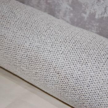 UPHOLSTERY FABRIC PALE/OATMEAL BRUSHED WEAVE, SOLD AS A 3 METRE PIECE.