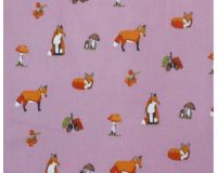 FOX PRINT ON A  PINK BACKGROUND, COTTON MIX.