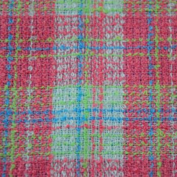 BOUCLE WOOL MIX CHECK FOR DRESSMAKING AND SOFT FURNISHINGS