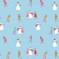CHRISTMAS COTTON BY THE COTTON CRAFT CO'.  SNOWMAN.