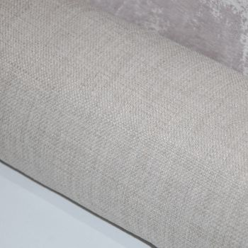 UPHOLSTERY/FURNISHING FABRIC , PALE GREY LINEN WEAVE SOLD AS A 5.5 METRE PIECE