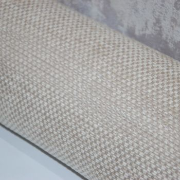 UPHOLSTERY FABRIC , PALE NEUTRAL TONE CHENILLE SOLD BY THE METRE.