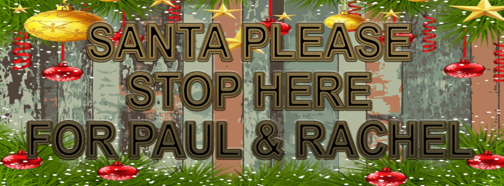 BESPOKE SANTA PLEASE STOP HERE METAL SIGN 28CM'S X 10CM'S