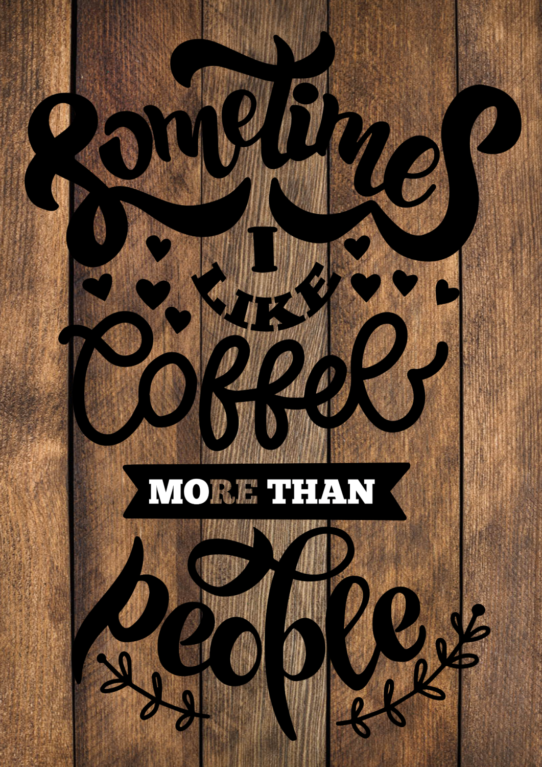 COFFEE NOW WINE LATER WOOD EFFECT METAL SIGN 29CM'S X 20CM'S