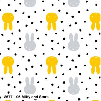MIFFY AND STARS, 100% COTTON BY THE COTTON CRAFT CO'.  SPECIAL OFFER PRICE.