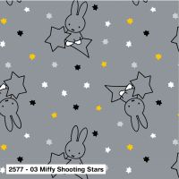 MIFFY SHOOTING STARS, 100% COTTON BY THE COTTON CRAFT CO'.  SPECIAL OFFER PRICE.