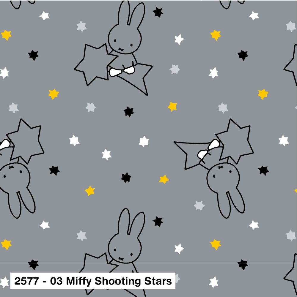 MIFFY SHOOTING STARS, 100% COTTON BY THE COTTON CRAFT CO'.  SPECIAL OFFER P