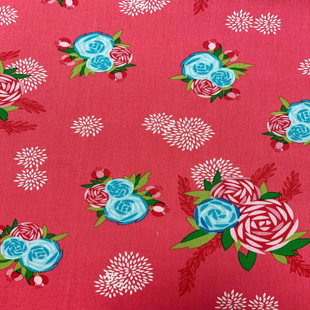 AMAZONIA FLORA, 100% COTTON BY THE COTTON CRAFT CO'.  SPECIAL OFFER PRICE.